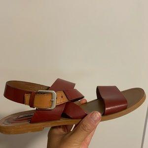 Massimo Dutti ankle wrap Sandals